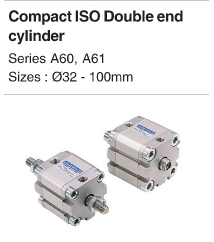 Compact ISO Double End Cylinder